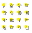 16 blank icons vector image vector image