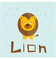 animal lion cartoon lion background image vector image vector image