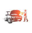 auto disassembly repair service mechanic vector image vector image
