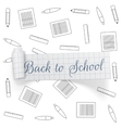Back to School greeting paper Ribbon vector image