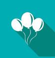 balloon icon a long shadow vector image vector image