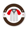 baseball sport shirt uniform emblem icon vector image