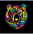 bear face sketch for your design vector image vector image