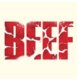 Beef sign vector image