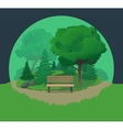 Bench In The Park vector image vector image