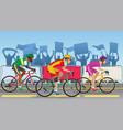 bicycle racing tournament vector image vector image