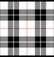 black and white tartan plaid seamless pattern vector image vector image