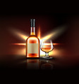 brandy bottle and glass strong alcohol drink