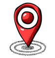 cartoon image of location icon pointer symbol vector image vector image