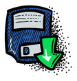 cartoon image of save icon floppy symbol vector image
