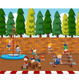 children playing on playground vector image