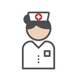 classic nurse icon with white uniform vector image vector image