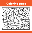 coloring page with halloween ghost color by dots vector image vector image