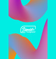 cover template with abstract liquid objects vector image vector image
