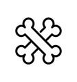 cross bone line icon vector image vector image