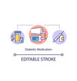 diabetic medication concept icon vector image vector image