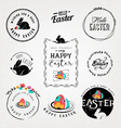 easter greeting card design elements vector image vector image