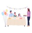 family holiday birthday happy family celebrates vector image vector image