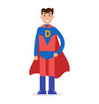 father superheroes super dad character vector image vector image