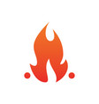 fire icon isolated image vector image
