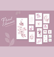 flowers pastel pink watercolor hand-painted vector image vector image