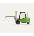 Forklift with crane vector image vector image