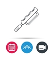 Fretsaw icon Carpenter work tool sign vector image vector image