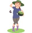 Gardener vector image vector image