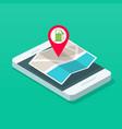 gas petrol fuel station position on navigation map vector image vector image