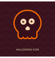 halloween skull silhouette icon vector image