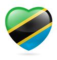 Heart icon of Tanzania vector image vector image