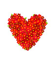 heart made of red flowers vector image vector image