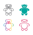 images of teddy bear vector image vector image