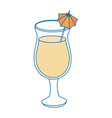 isolated cocktail cup vector image vector image