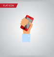 isolated holding flat icon cellphone vector image vector image