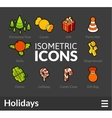 Isometric outline icons set 52 vector image vector image