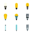 Lamp for home icons set flat style vector image vector image