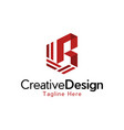 letter r hexagon creative business modern logo vector image vector image