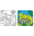 Little iguana coloring book vector image vector image