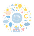little prince banner template baby boy shower vector image vector image
