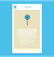 lollypop mobile vertical banner design design vector image