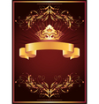 Luxurious golden ornament and crown vector image vector image