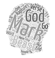 Mark of the Beast text background wordcloud vector image vector image