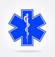 medical symbol logo rod asclepius vector image