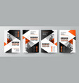 modern orange and black design template vector image vector image