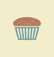 muffin flat icon vector image vector image