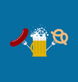 mug beer and sausage and pretzel logo