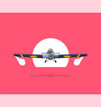 old airplane flat isolated on background vector image vector image