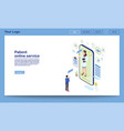 patient support online service isometric homepage vector image vector image