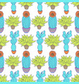 pattern with cactuses vector image vector image